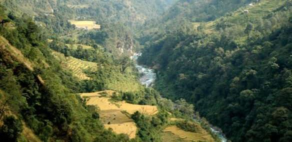 Lingzam in Dzongu - Landscape to be destroyed by Panan HEP